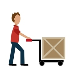 delivery service with box vector image