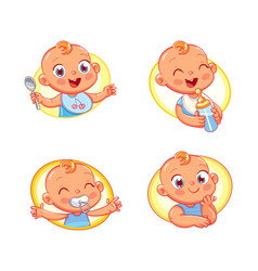 Design template for baby food vector