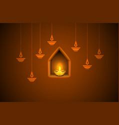 Diwali Holiday background vector image