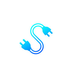 Electric plugs with cable icon vector