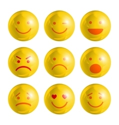 Emoji emoticons set vector image