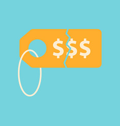flat icon of sale tag money vector image