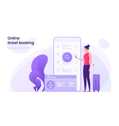 flight tickets online booking concept vector image