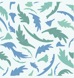 Foliage all over print tossed leaves vector