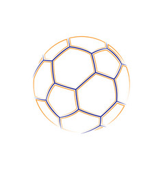 football outline symbol vector image