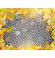 Frame composed of colorful autumn leaves eps 10 vector