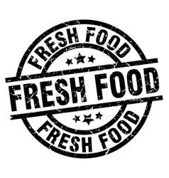 Fresh food round grunge black stamp vector