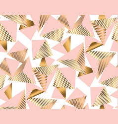 gold and pale rose pyramid with pattern vector image