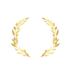 golden circular olive greek wreath vector image
