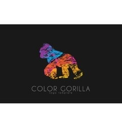 Gorilla Gorilla logo Color gorilla design vector image