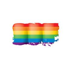 Grunge rainbow flag isolated on white background vector