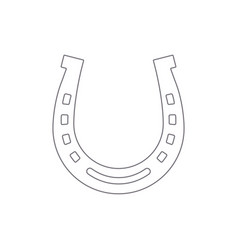 horseshoe outline vector image