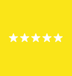 icon concept of five stars on yellow background vector image