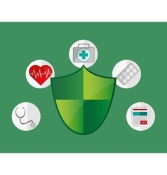 Insurance services related icons image vector
