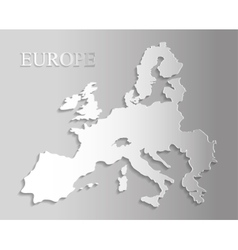 Isolated europe map design vector