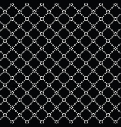 Lattice pattern with trendy lattice on a black vector