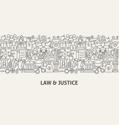 Law justice banner concept vector