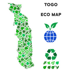 Leaf green composition togo map vector