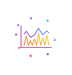 line chart icon financial graph sign vector image