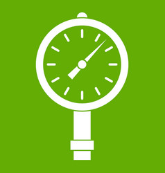 Manometer or pressure gauge icon green vector
