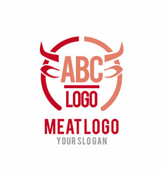 meat logo vector image