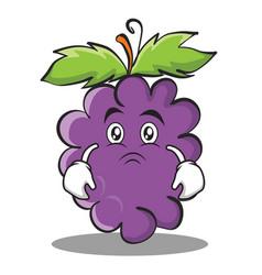 Moody grape character cartoon collection vector