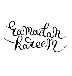 Muslim community festival ramadan kareem black and vector