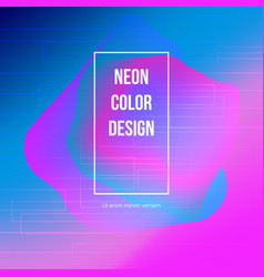 neon color background design for banner poster vector image