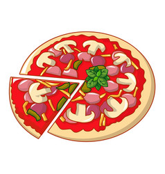 pizza mozzarella icon cartoon style vector image