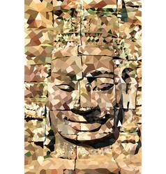 Poly buddha face vector