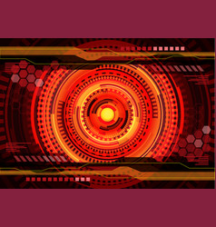 red yellow technology digital power energy vector image
