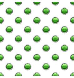 Round green button pattern vector