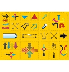 Set of arrows and pointers vector image