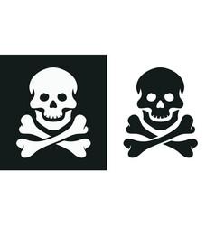 Skull and bone jolly roger vector