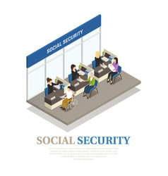 Social security isometric composition vector