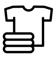 stack of clean tshirt icon outline style vector image