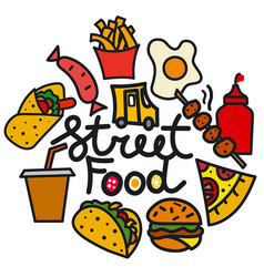 Street food cover vector