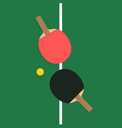 table tennis rackets vector image