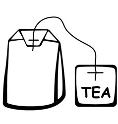Tea bag black pictogram vector
