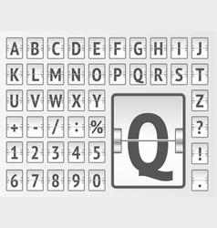 Terminal white scoreboard regular font to display vector