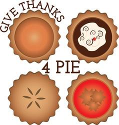 Thanks 4 Pie vector