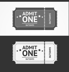 Ticket icon blank admit set vector