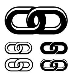 together chain black white symbols vector image