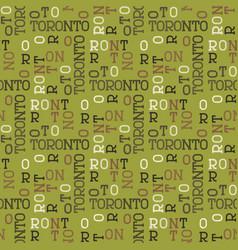 Toronto pattern seamless design vector