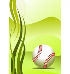 vector baseball background vector image