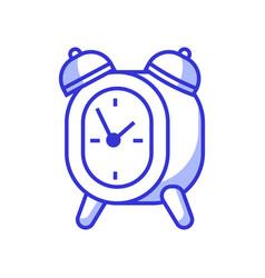 Vintage twin bell alarm clock icon vector