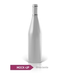 White bottles of wine or cocktail vector