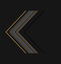 yellow line grey arrow overlap on dark blank vector image