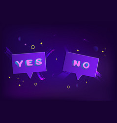 yes and no badges vector image