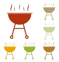 Barbecue simple sign vector image vector image